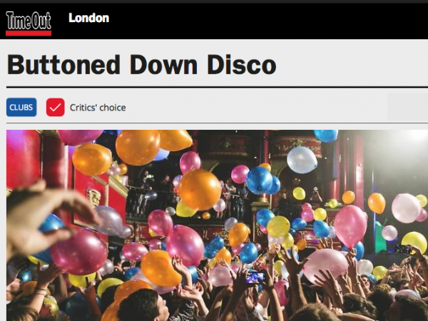 TimeOut: Critics' choice: Buttoned Down Disco